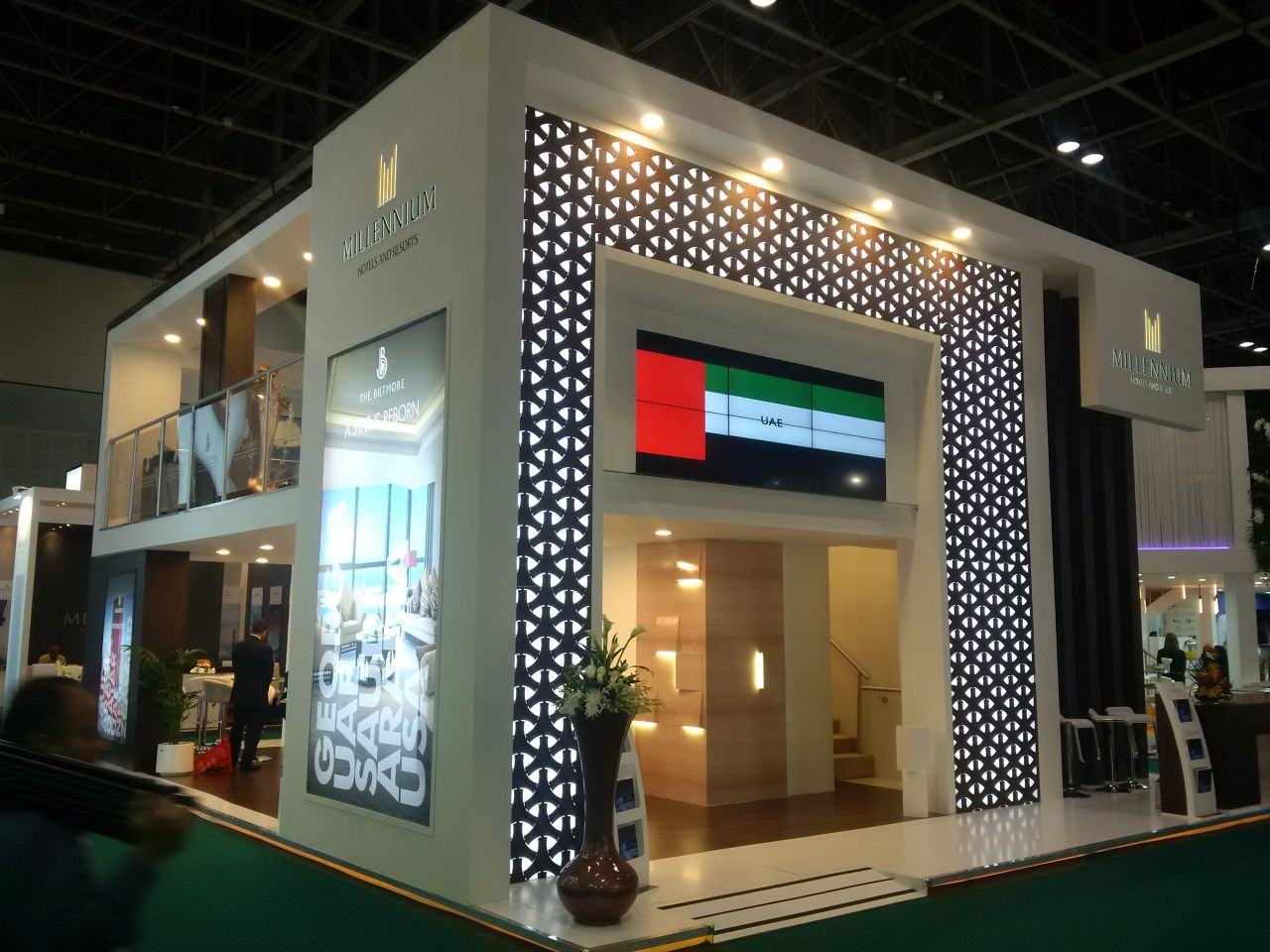 Expo Stands Eyeshadow : Millennium copthorne middle east africa stand at