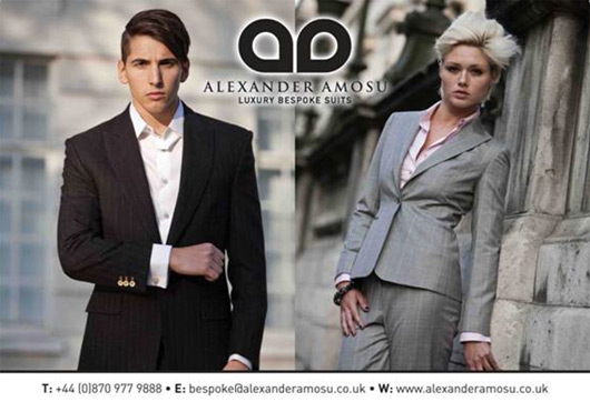 Alexander Amosu launches his Luxury Bespoke Suit line at ...